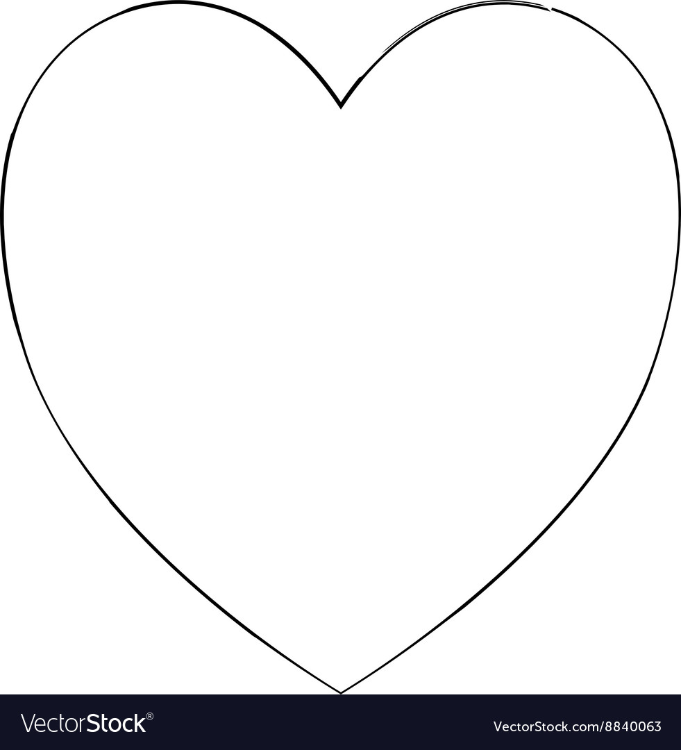 heart shape symbol love black royalty free vector image