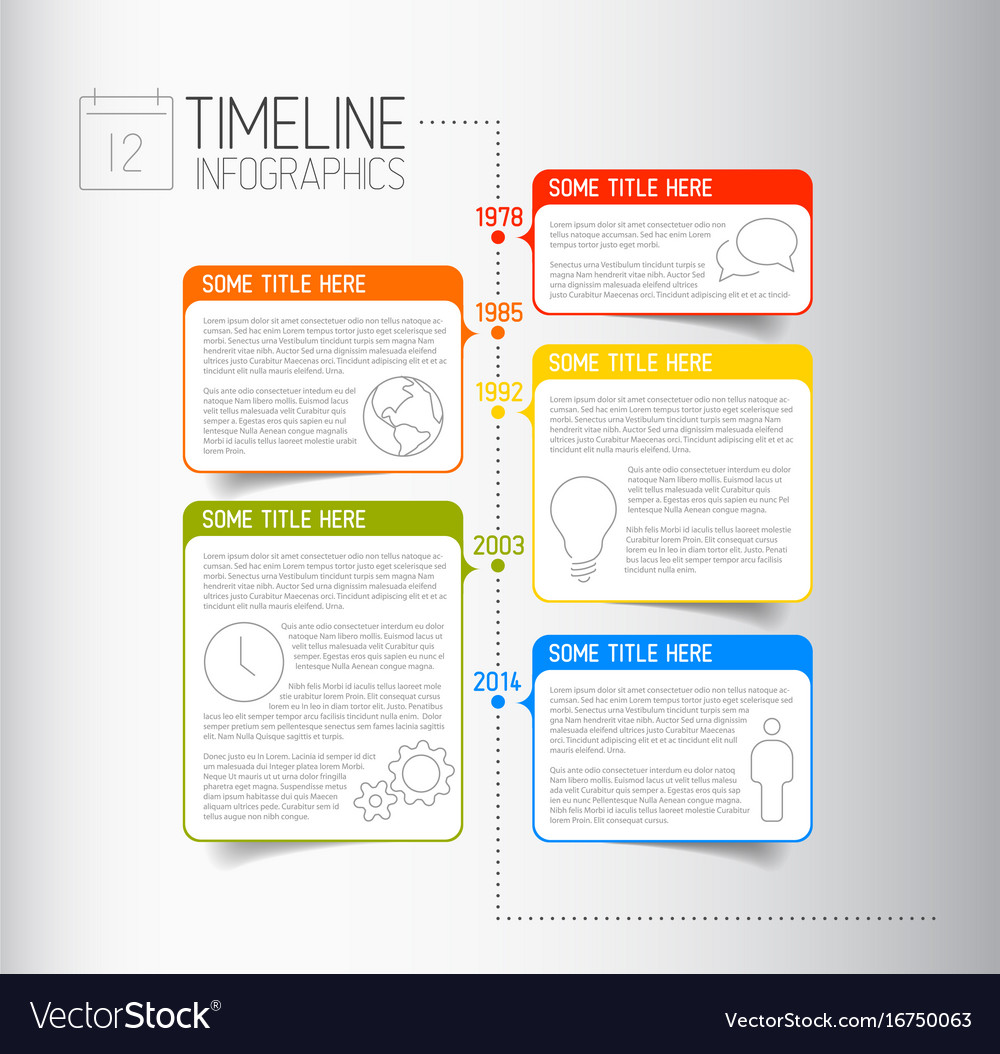 Infographic Timeline Report Template With Vector Image