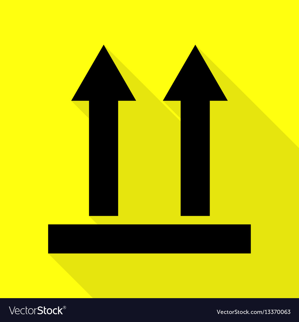 Logistic sign of arrows black icon with flat