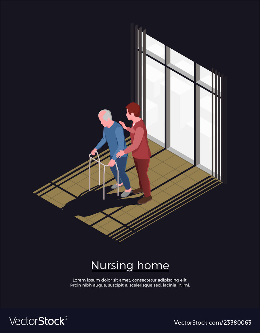 Nursing Home Isometric Design Concept