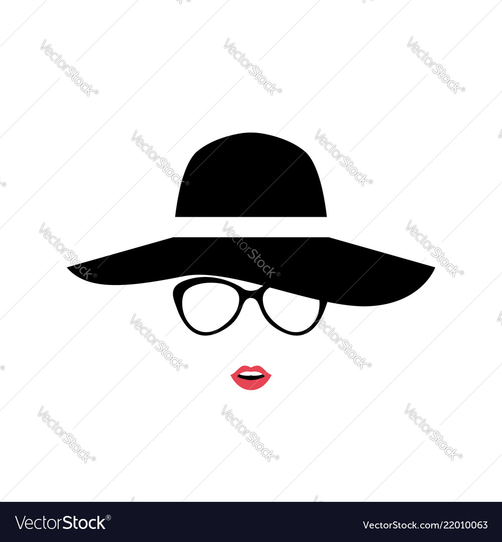 Portrait of lady in stylish hat and glasses women