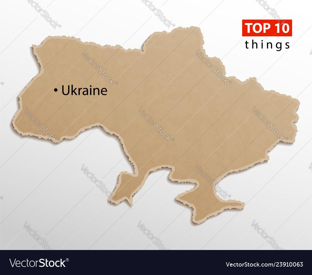 Ukraine map ukrainian maps craft paper texture