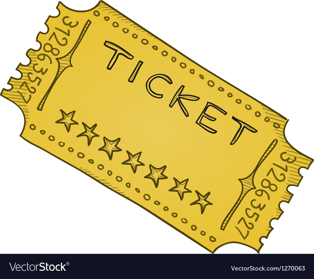 Vintage Cinema Ticket vector image