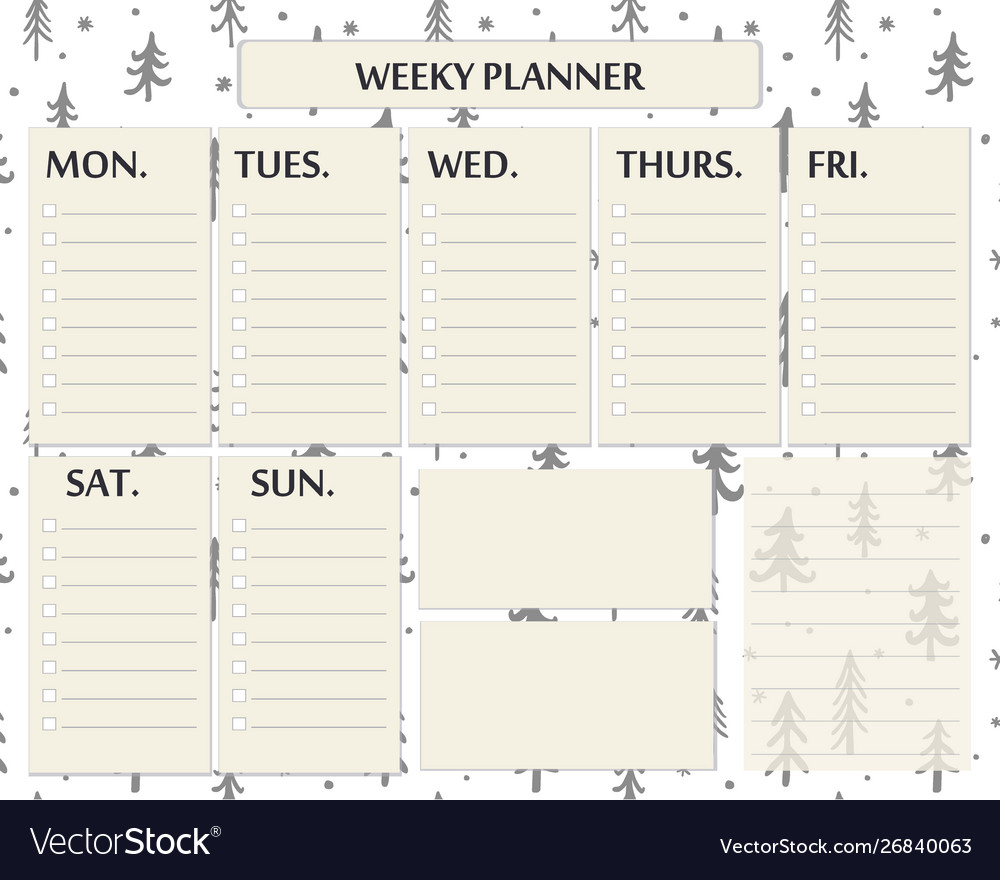 graphic regarding Weekly Planner Page known as Weekly planner web site template style for xmas
