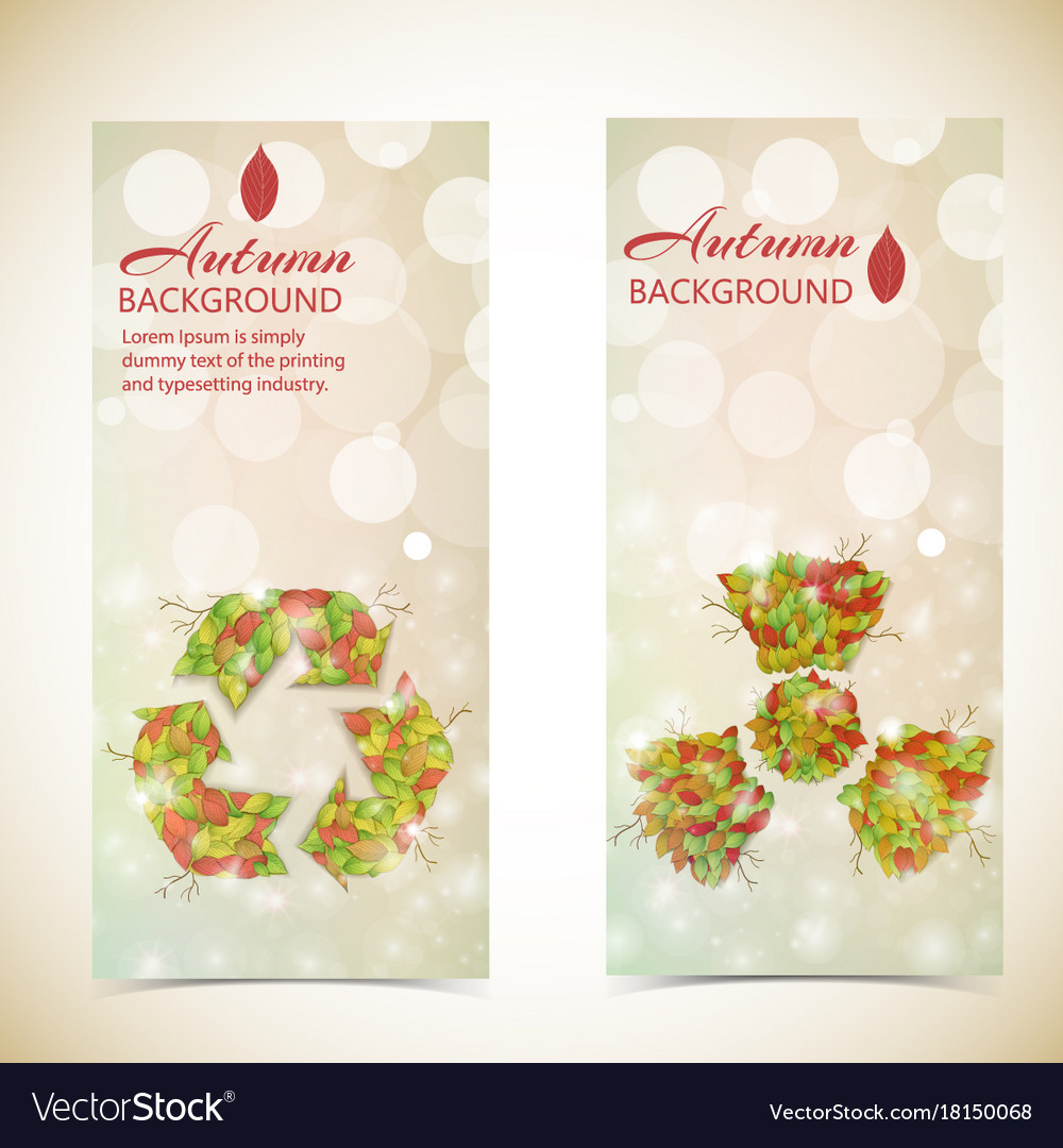 Autumn eco banners