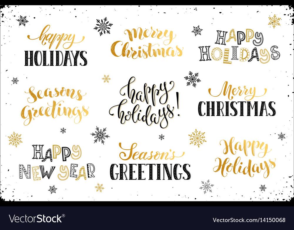 Happy holidays phrases royalty free vector image happy holidays phrases vector image m4hsunfo