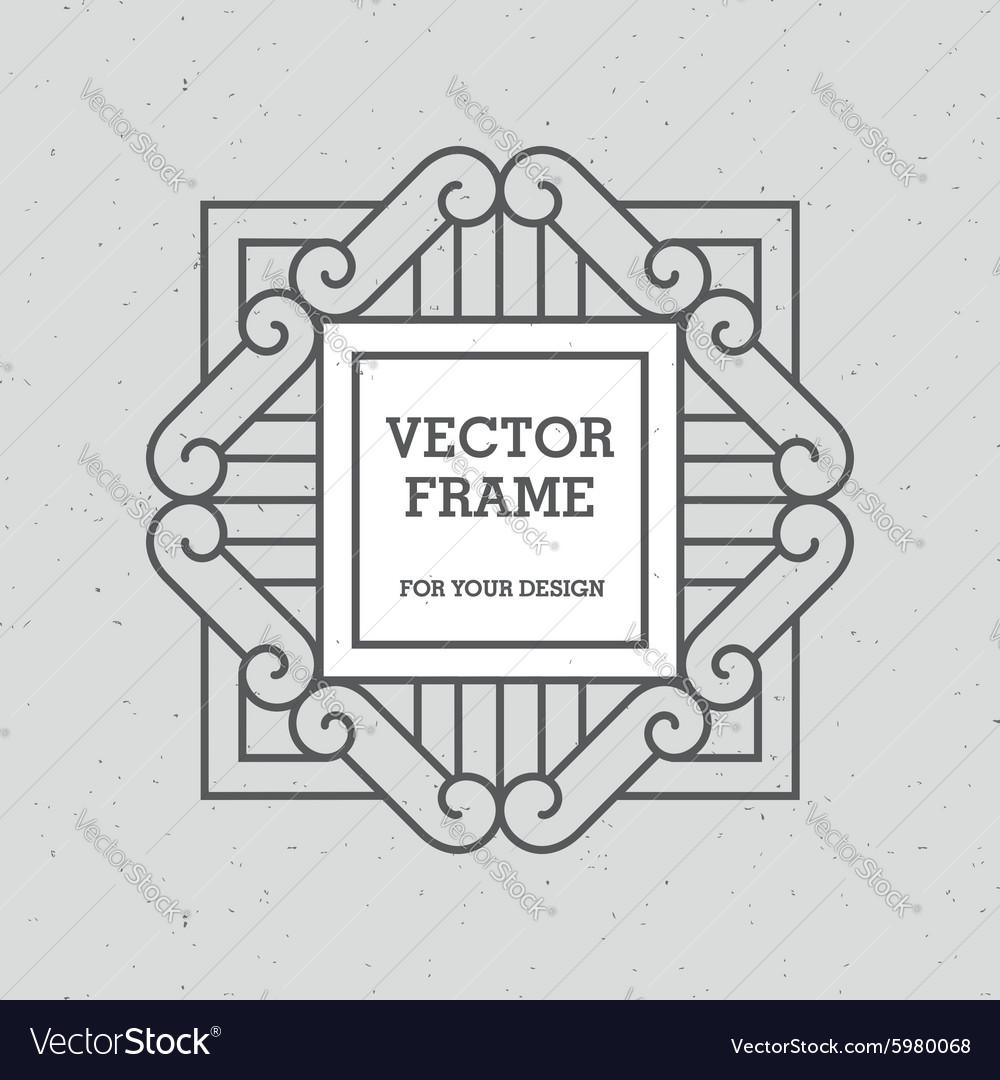 Single Mono Line Frame
