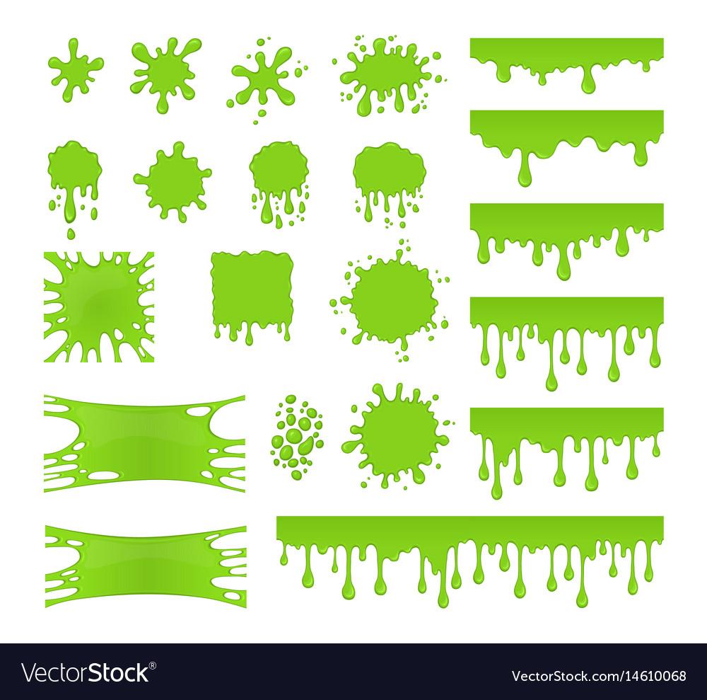 Slime set vector image