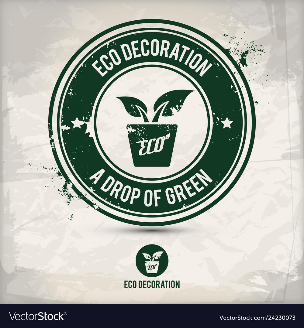 Alternative eco decoration stamp
