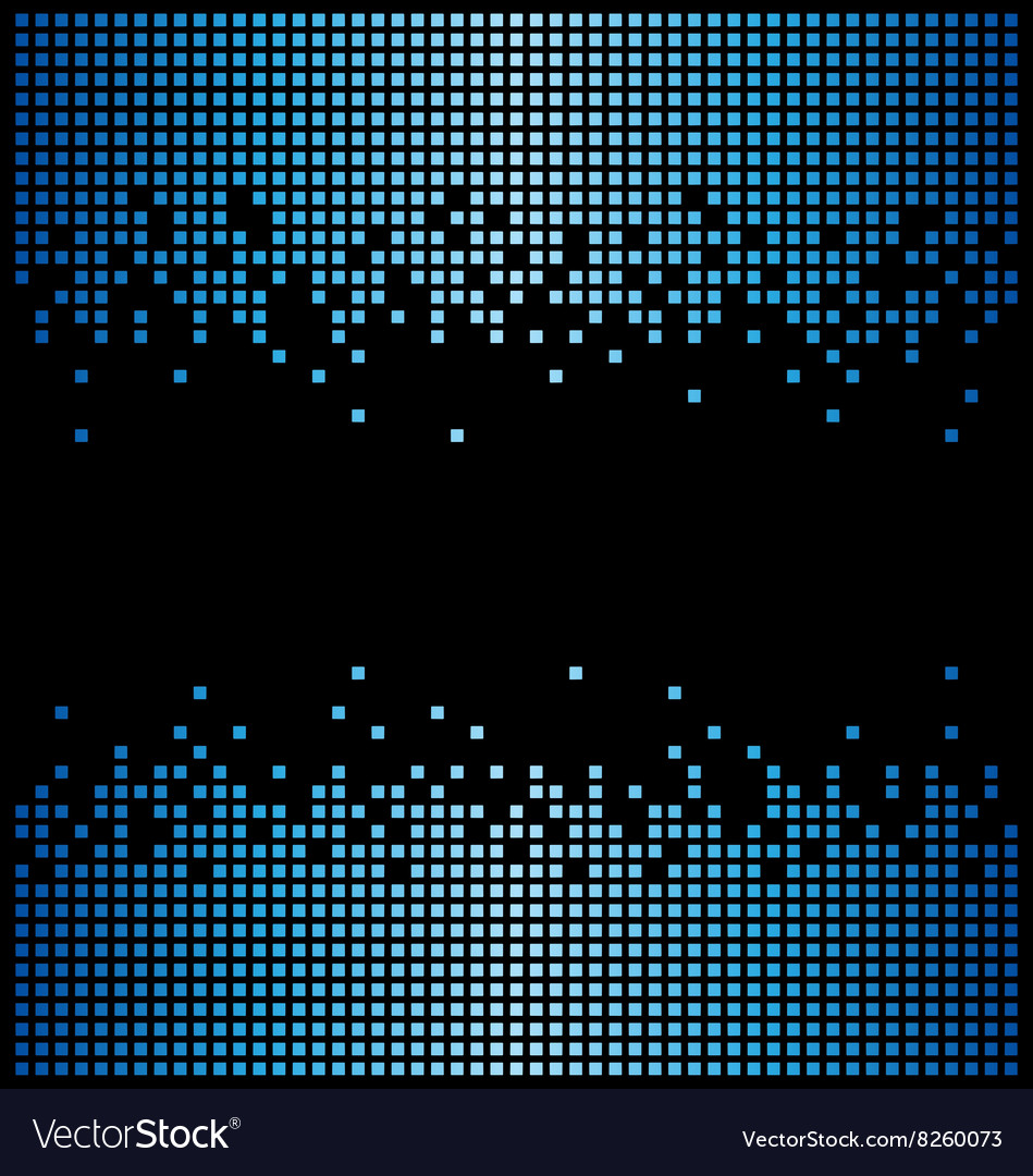 Blue pixel background and black copy space