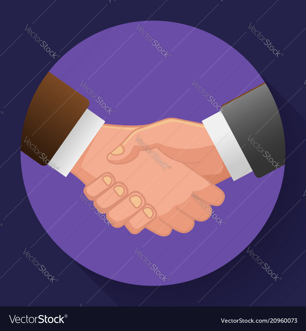 Handshake icon contract icon agreement icon for