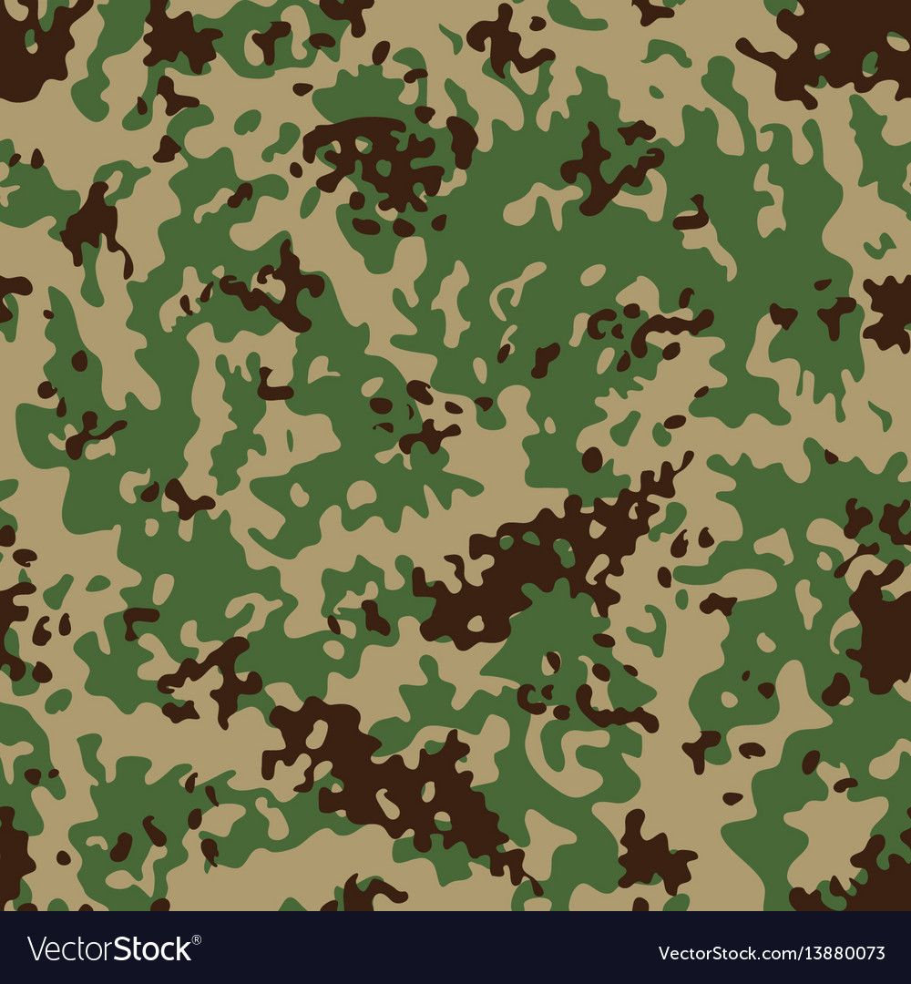 Indian flectarn camouflage seamless patterns vector image