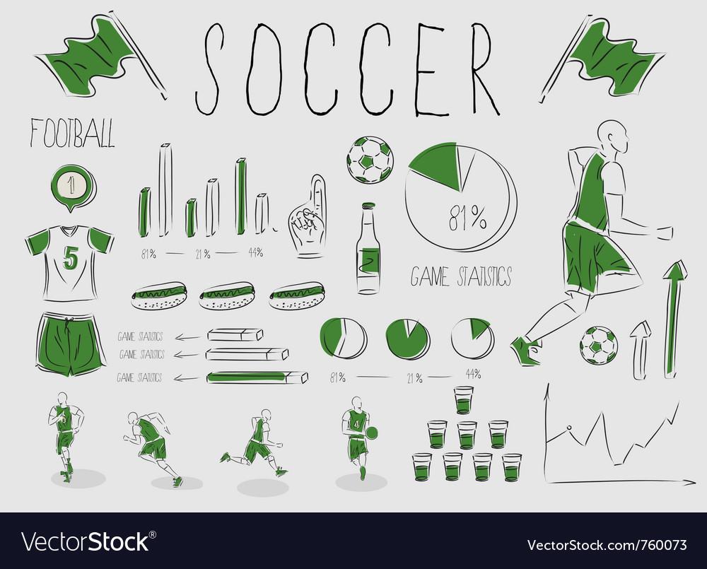 Soccerfootball inforgrapic vector image
