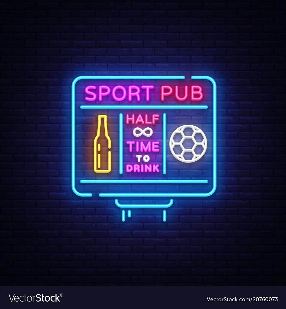 Sports bar logo neon sports pub neon sign