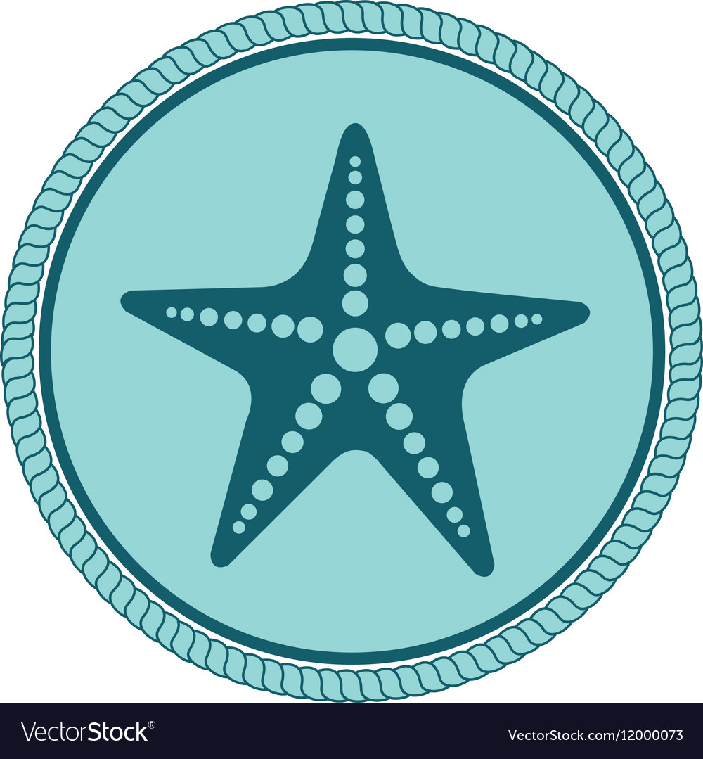 Star fish emblem isolated
