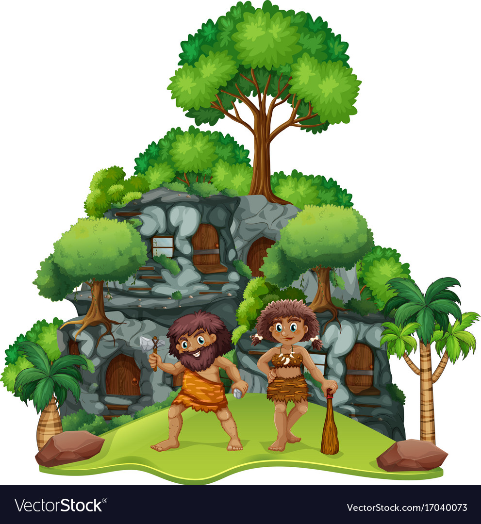 Miraculous Two Cavemen At Home Home Interior And Landscaping Staixmapetitesourisinfo