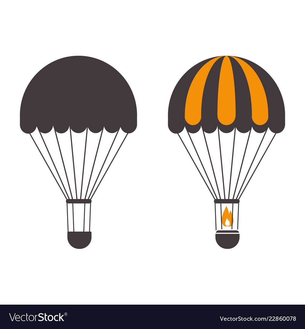 Air balloons outline emblems