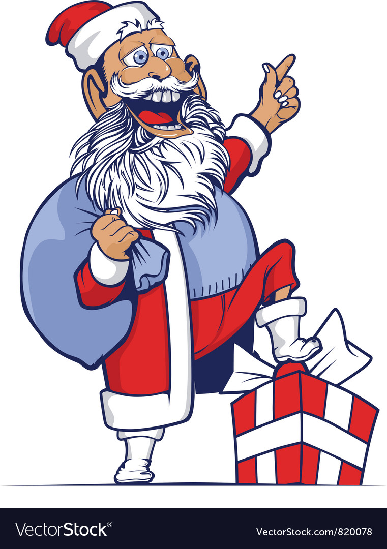 Cartoon funny santa