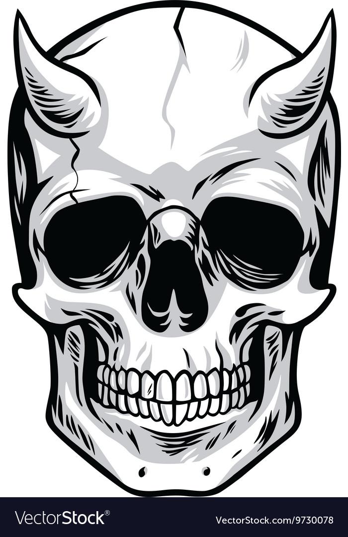 demon head skull royalty free vector image vectorstock