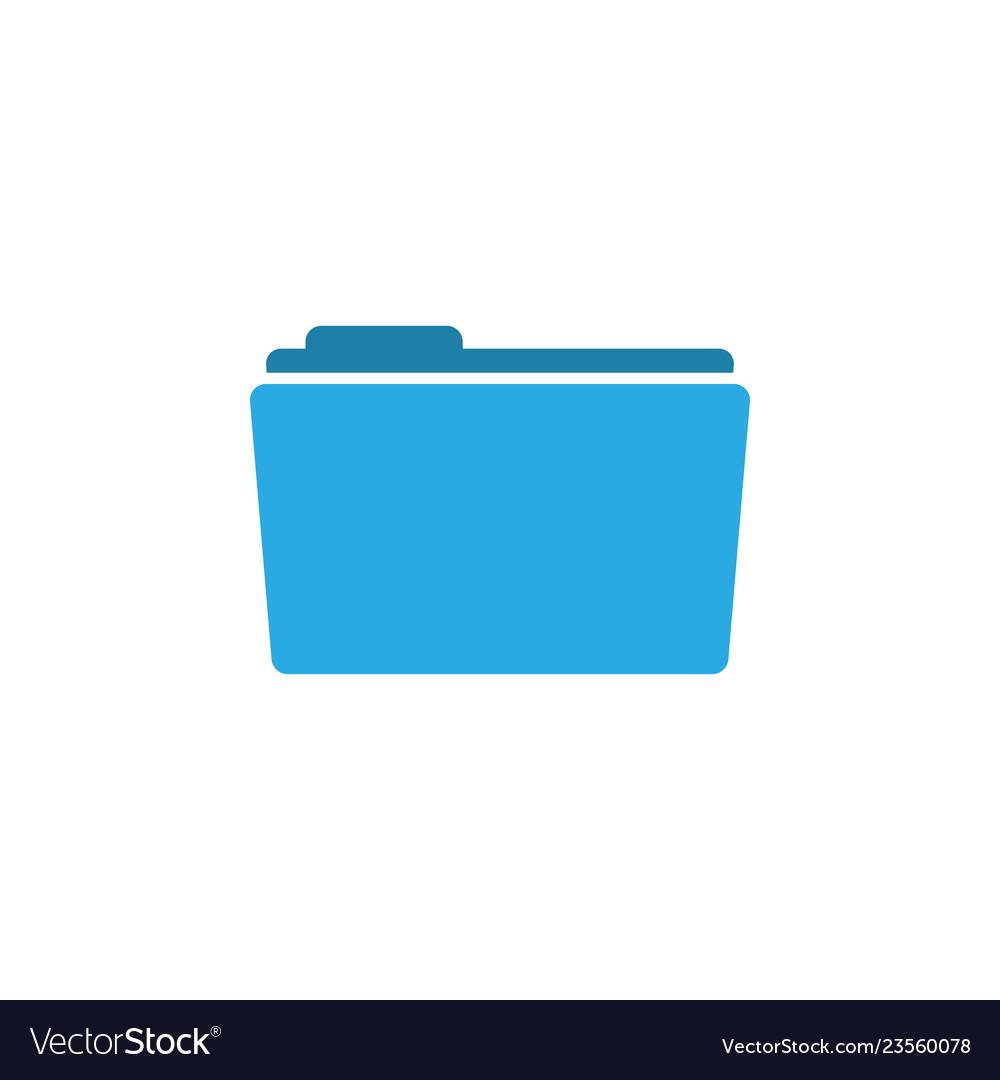 Folder Icon Graphic Design Template Vector Image