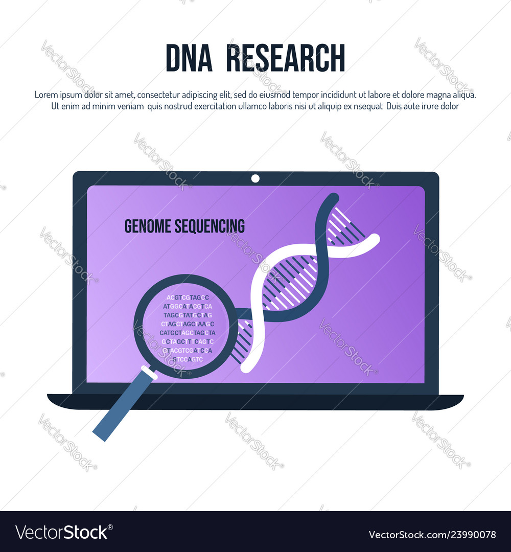 Genetic engineering and genome sequencing concept