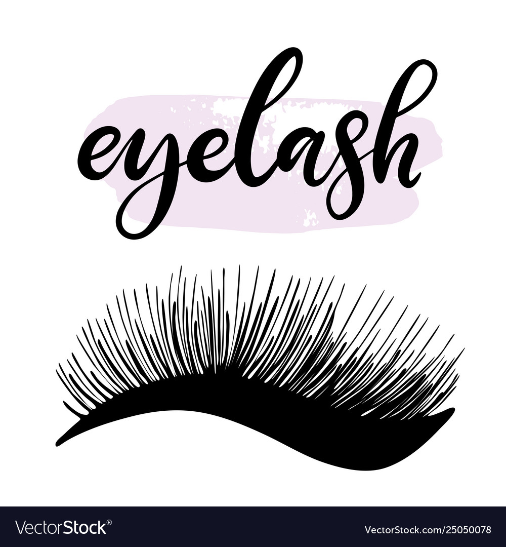Lashes lettering
