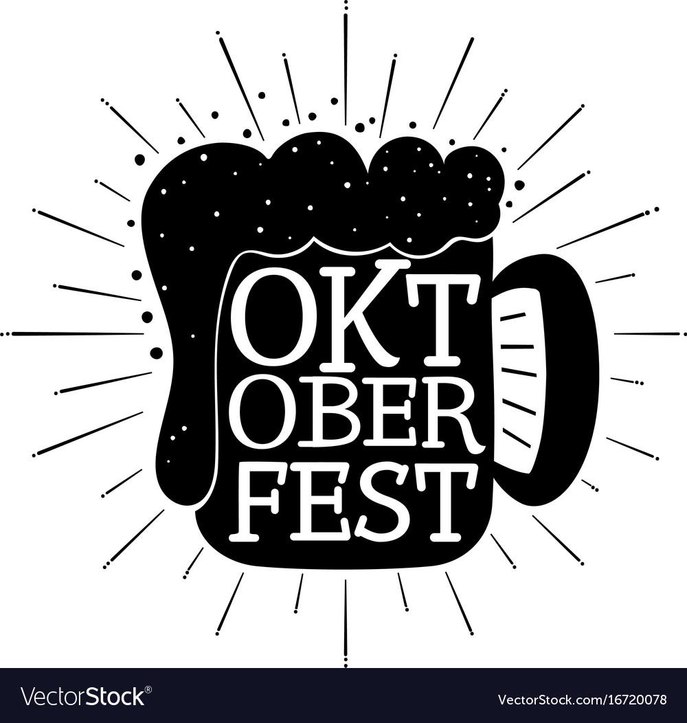 Oktoberfest hand written lettering background