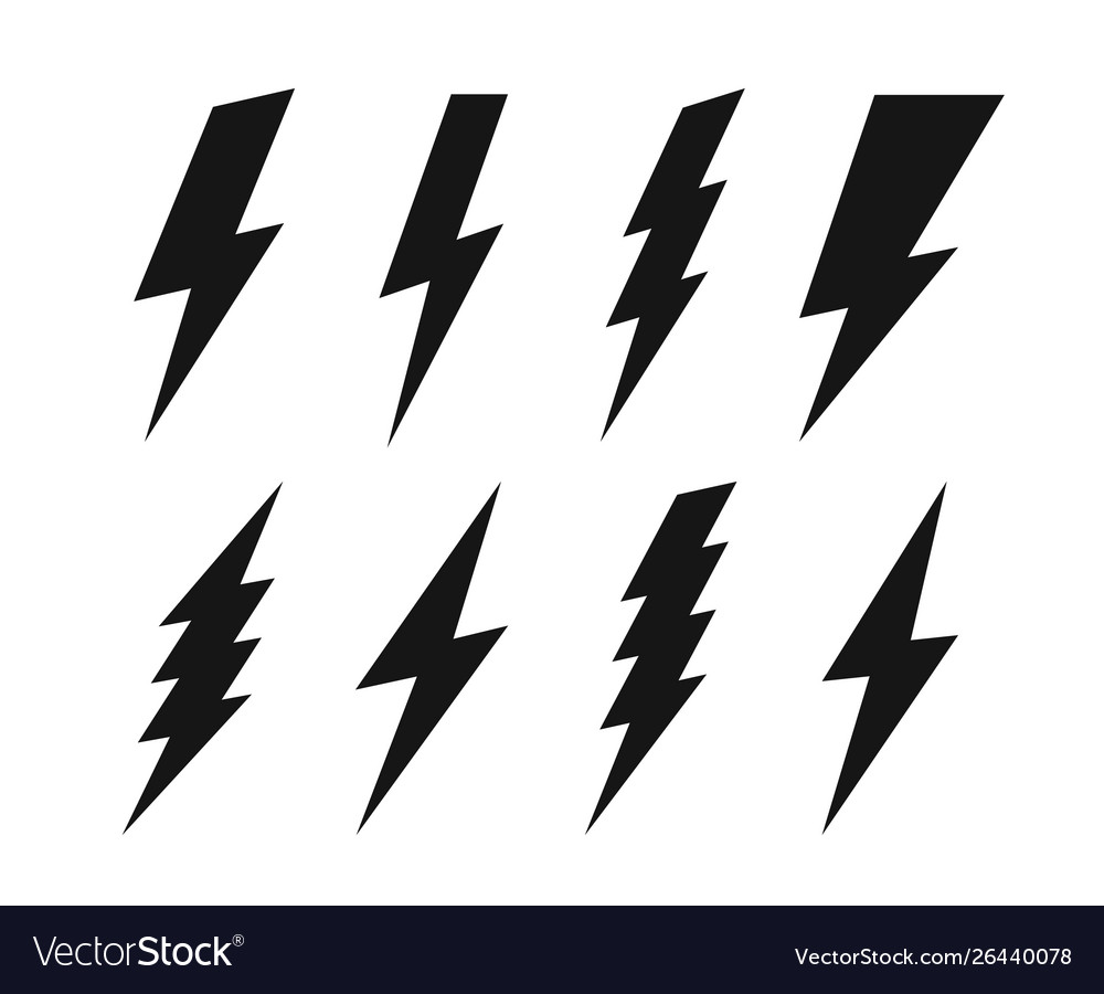 Set lightning bolt