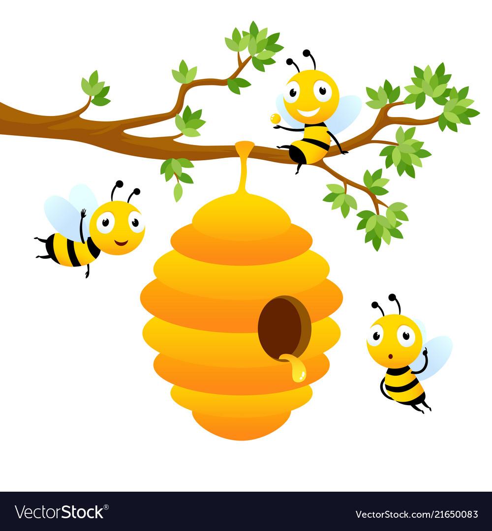 Bee characters cartoon mascot design