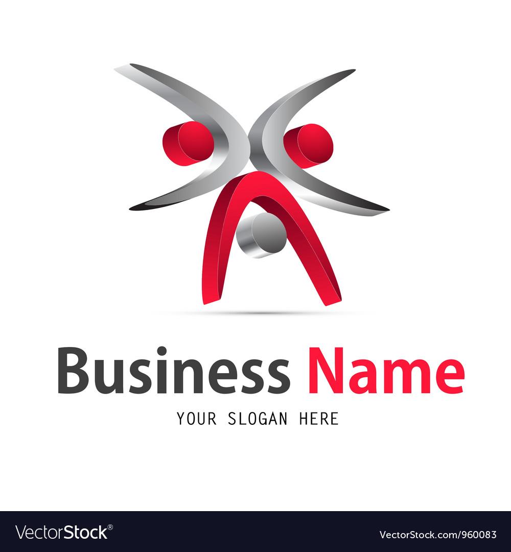 Business web icon logo vector image