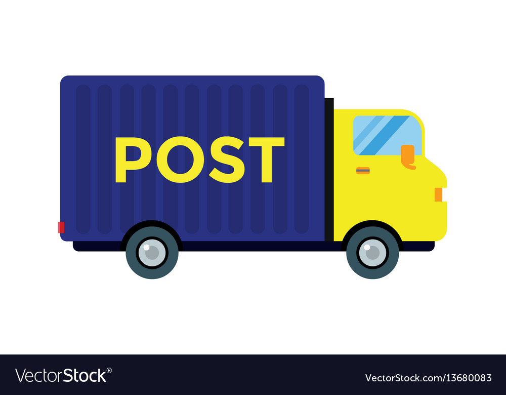 Delivery transport cargo post truck