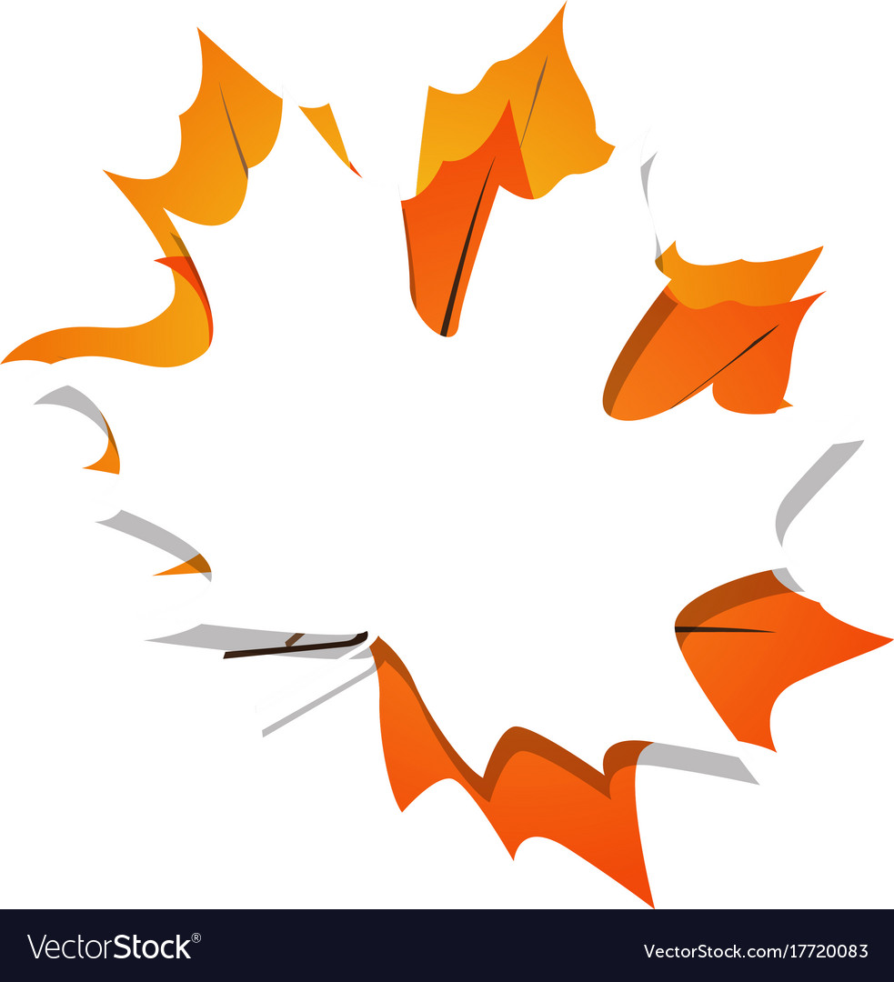 isolated fall leaves royalty free vector image rh vectorstock com fall leaves vector border fall leaves vector art