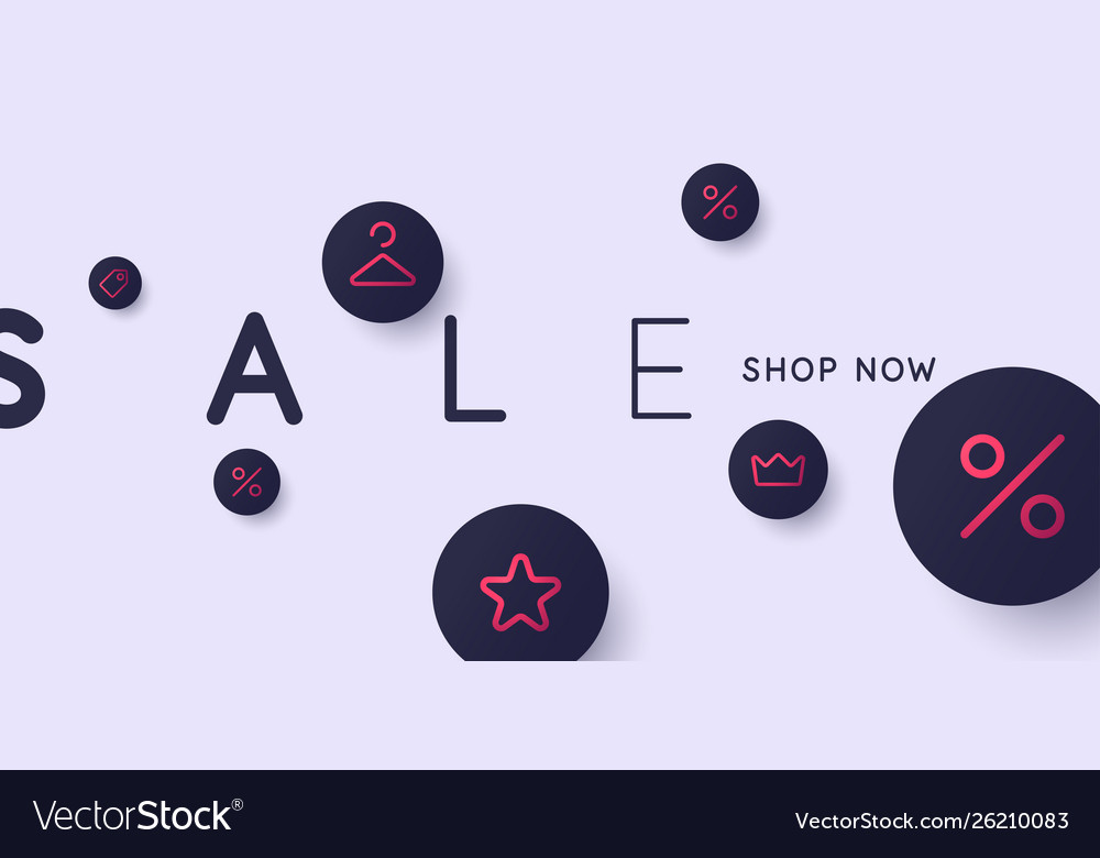 Sale poster bright abstract background of