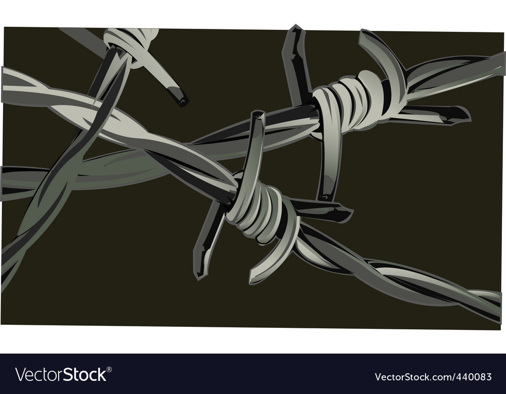 Thorny hedge vector image