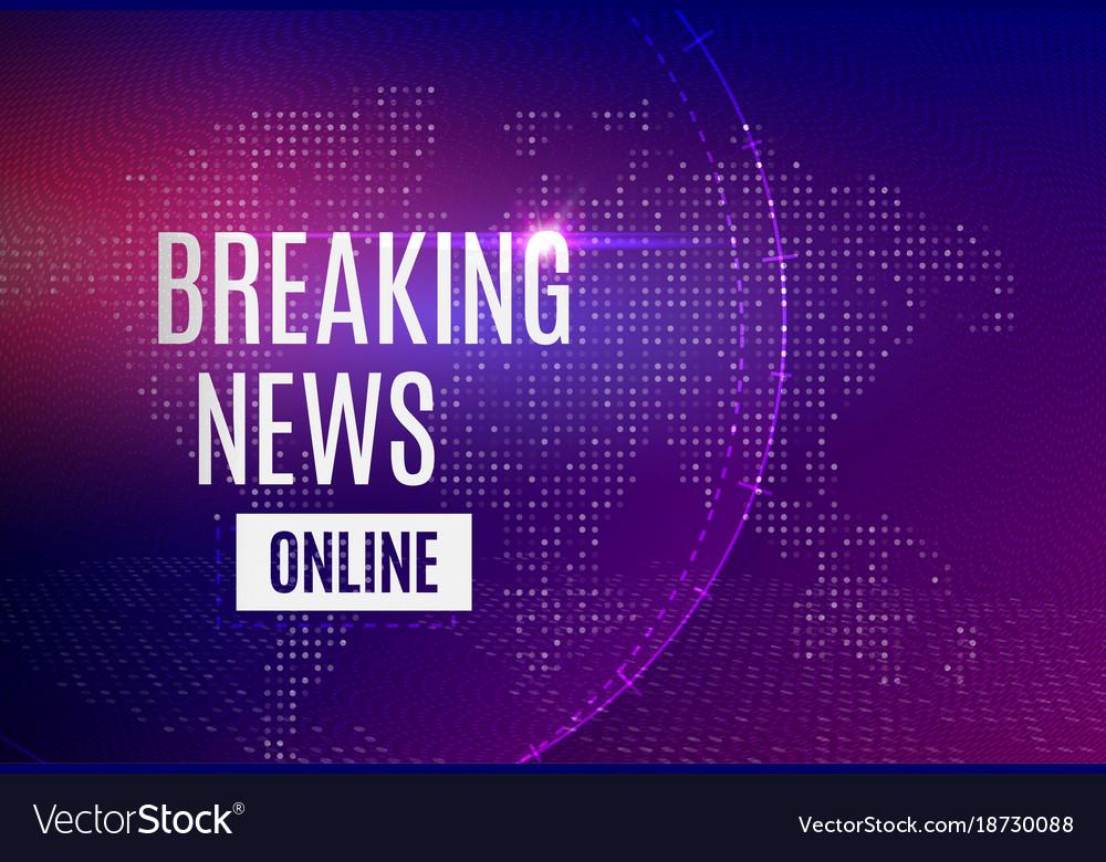 Breaking news online announcement message line