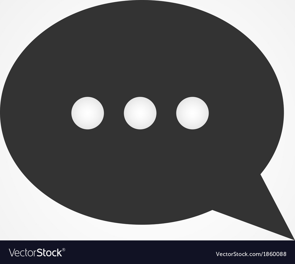 Chat bubble icon flat design vector image