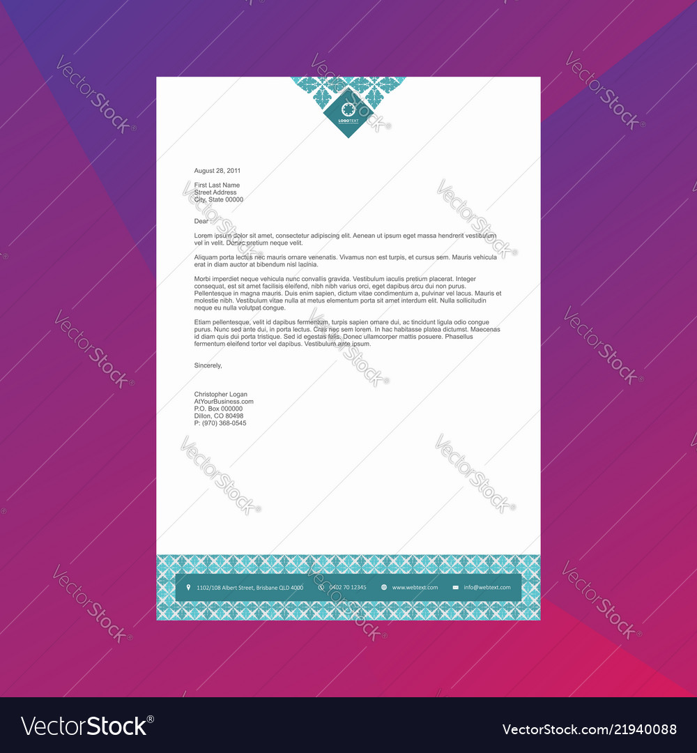 Professional Letterhead   Professional Letterhead Design Template Royalty Free Vector