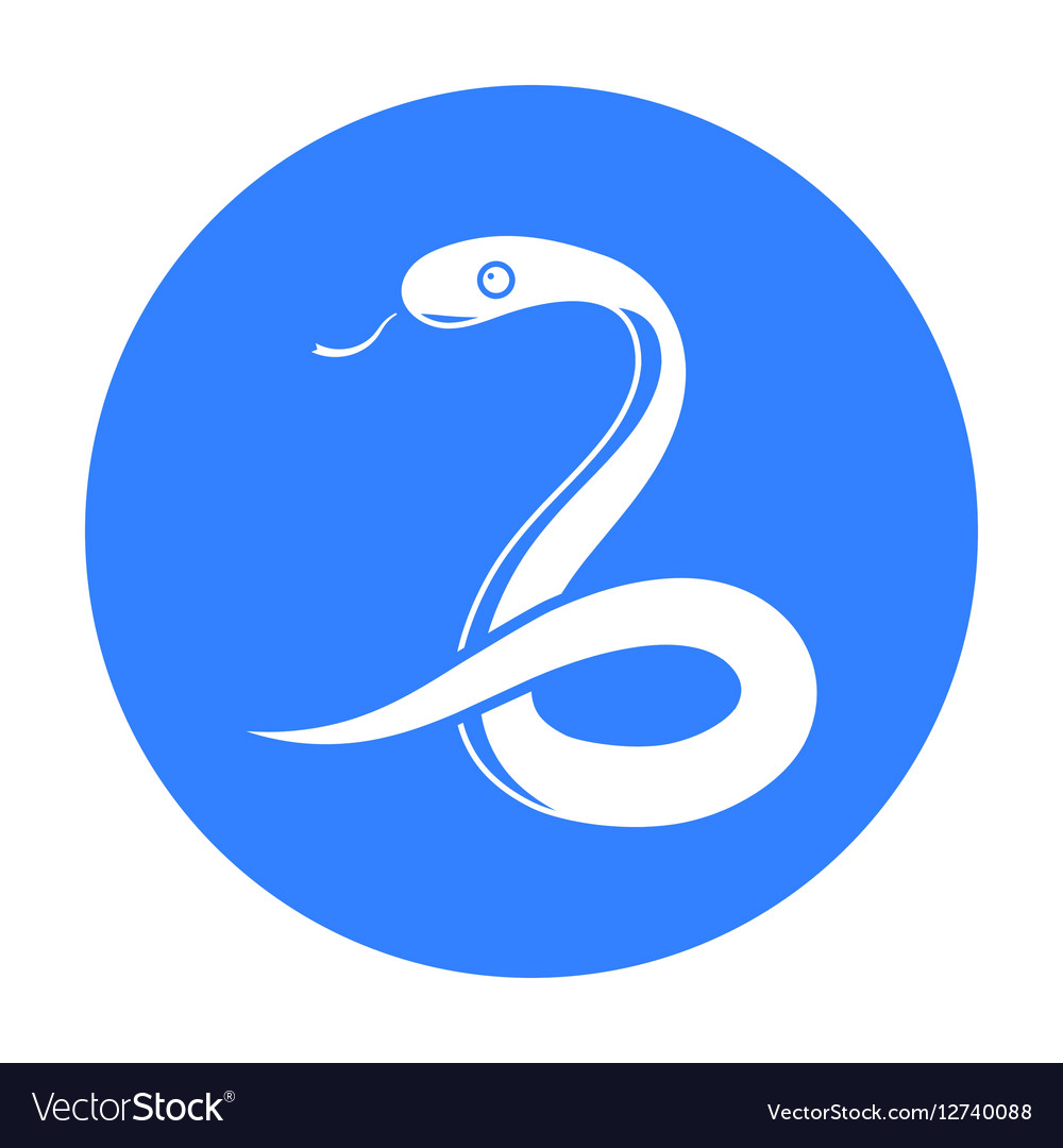 Snake icon black Singe animal icon from the big
