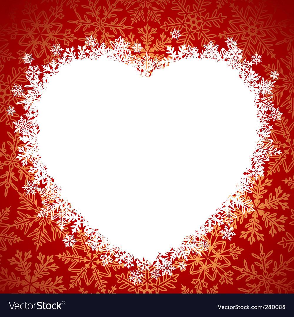 Snow frame heart