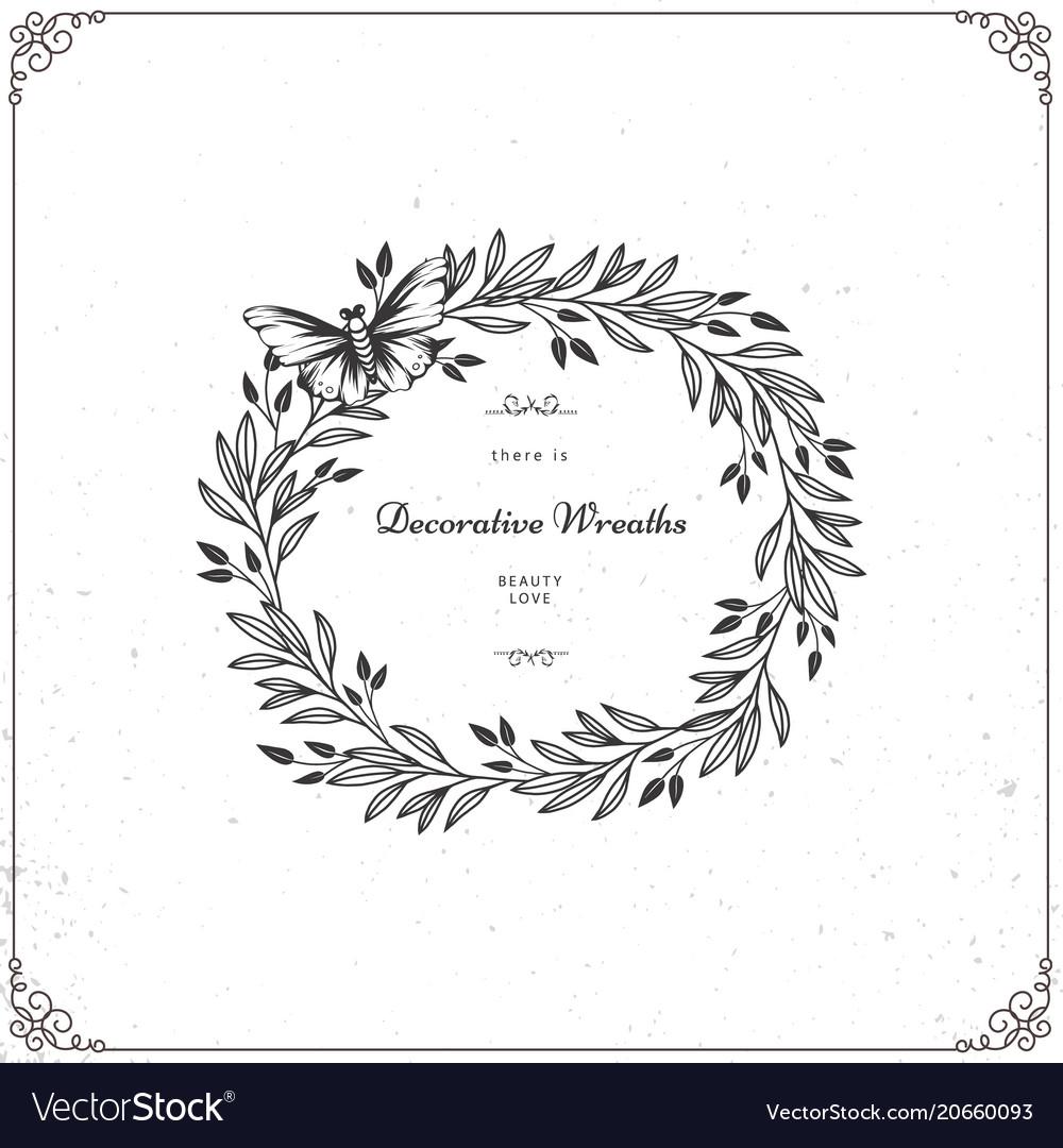 Beautiful wreath isolated on white background