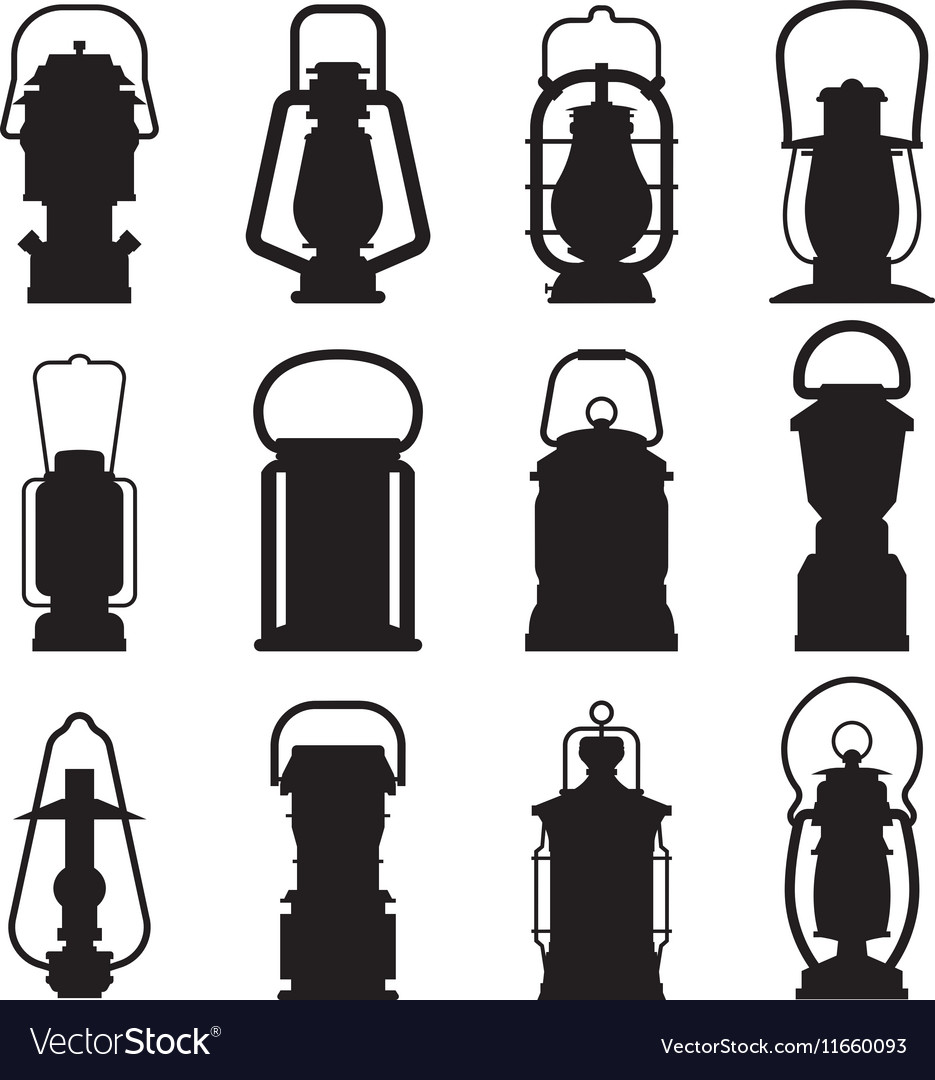 Camping Lantern Silhouettes