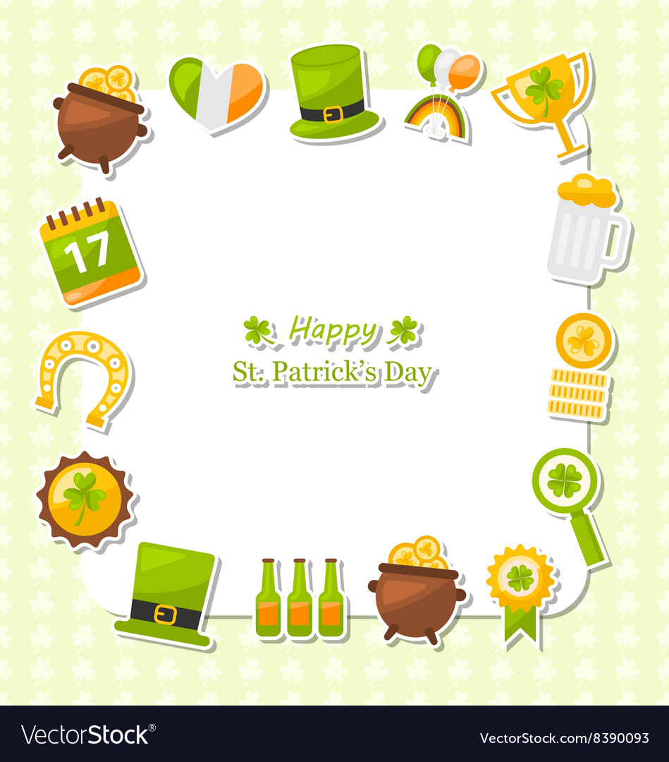 Celebration Card with Traditional Symbols for St