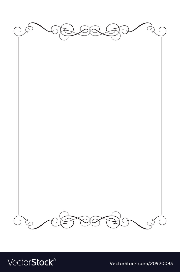 Decorative frames and border standard rectangle