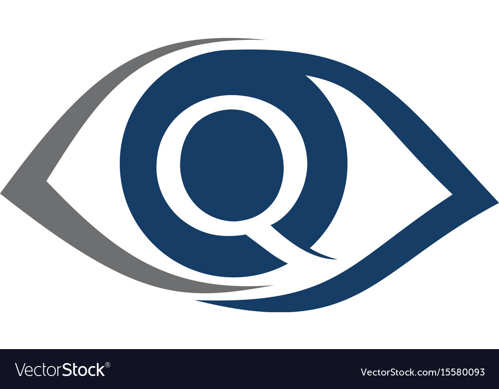Eye care ceye care solutions letter q vector image