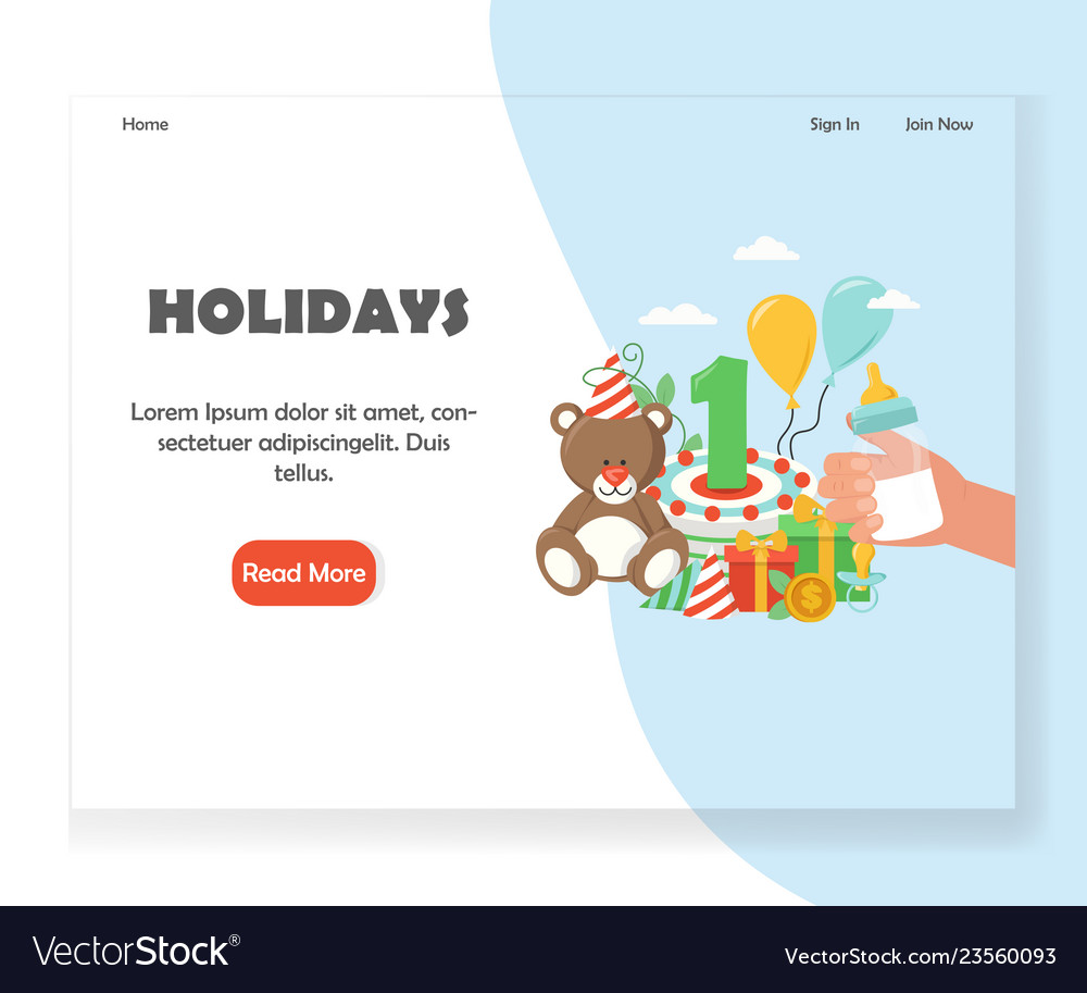 Happy holidays website landing page design