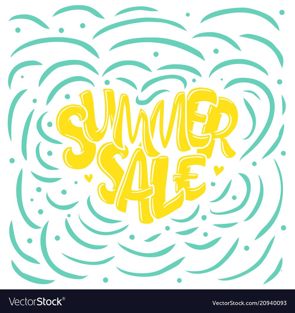 Lettering in heart - summer sale marketing header