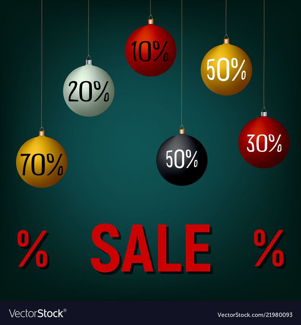 New year christmas sale banner poster template