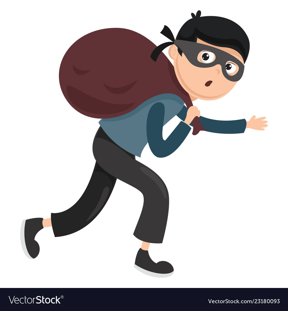 Of thief Royalty Free Vector Image - VectorStock