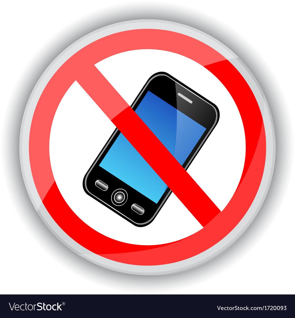 Запрет на разговоры по мобильному картинка
