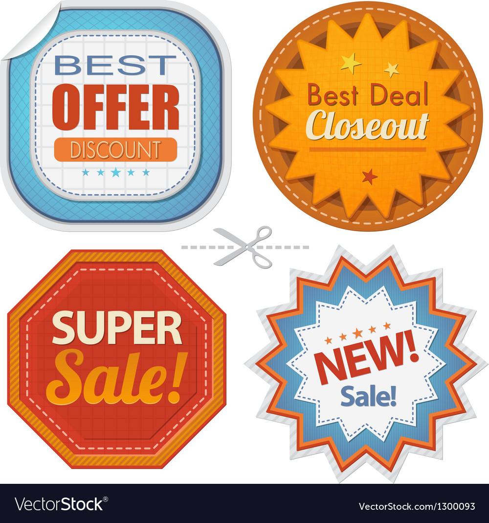 Super sales badges collection vector image